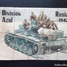 Militaria: PLIEGO CON CUPONES DE RACIONAMIENTO, DIVISION AZUL, RUSIA 1942. ALCALA DE HENARES, MADRID.. Lote 292105738