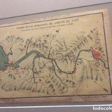 Militaria: PLANO DE LA RIA DE BILBAO EN LA 1ª GUERRA CARLISTA EN 1836 (CROMOLITOGRAFIA DEL AÑO 1890). Lote 293447038