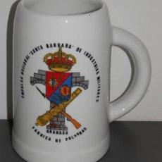 Militaria: JARRA MILITAR DE EMPRESA NACIONAL SANTA BARBARA DE INDUSTRIAS MILITARES. Lote 297101243