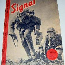 Militaria: ANTIGUA REVISTA SIGNAL - Nº 2º AGOSTO 1942 - 47 PAGINAS - 37 X 27 CMS. SI TIENE POSTER (PAGINA CENTR. Lote 830349