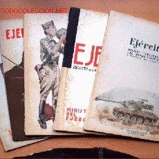 Militaria: LOTE 5 REVISTAS EJÉRCITO AÑO 1952. Nº 144, 145, 146, 148 Y 149. Lote 2780365