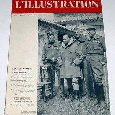 Militaria: ANTIGUA REVISTA FRANCESA L´ILLUSTRATION - JUNIO 1938 - ARTICULO SOBRE GUERRA CIVIL CON FOTOS. Lote 27017682