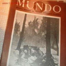 Militaria: ANTIGUA REVISTA - MUNDO - REVISTA SEMANAL DE POLITICA EXTERIOR Y ECONOMICA ABRIL DE 1944. Nº 206. Lote 388400