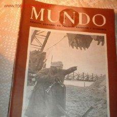 Militaria: ANTIGUA REVISTA - MUNDO - REVISTA SEMANAL DE POLITICA EXTERIOR Y ECONOMICA ABRIL DE 1944. Nº 205. Lote 388411