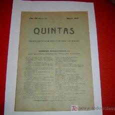 Militaria: QUINTAS REVISTA ESPAÑOLA DE RECLUTAMIENTO Y REEMPLAZO. Lote 11096369