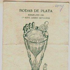 Militaria - Folleto de las bodas de plata del 7º Regimiento Ligero de Artilleria. 1936-1961. - 3785062