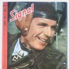 Militaria: SIGNAL 1945 Nº 3 ED, DA GERMAN MAGAZINE - REVISTA ALEMANA . DANESA - DANISH MUY RARO - VERY RARE . Lote 26616595