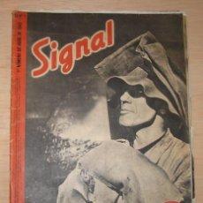 Militaria: REVISTA ALEMANA SIGNAL, 1º NÚMERO DE ABRIL DE 1942.. Lote 4581378