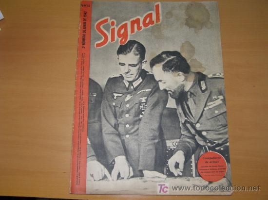 REVISTA ALEMANA SIGNAL, 2º NÚMERO DE JUNIO DE 1942. (Militar - Revistas y Periódicos Militares)