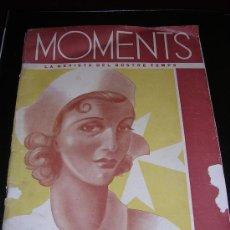 Militaria: MOMENTS , LA REVISTA DEL NOSTRE TEMPS, Nº10 1938, MUY ILUSTRADA ( RARA). Lote 13817452
