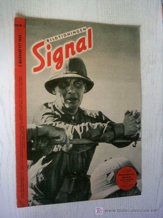 BILTIDNINGEN SIGNAL GERMAN MAGAZINE - REVISTA ALEMANA Nº 6 1942 ED. SCH. SUECA / SVERIGE - RARO / (Militar - Revistas y Periódicos Militares)