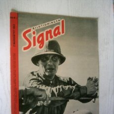 Militaria: BILTIDNINGEN SIGNAL GERMAN MAGAZINE - REVISTA ALEMANA Nº 6 1942 ED. SCH. SUECA / SVERIGE - RARO / . Lote 26170441