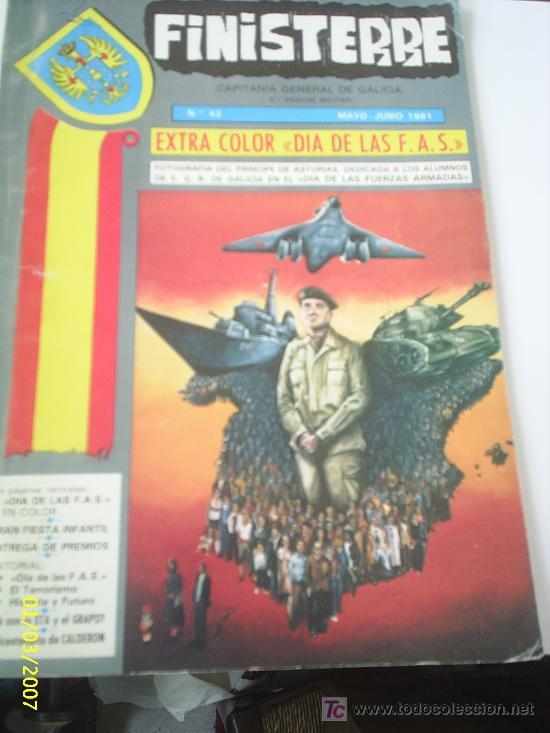 REVISTA FINISTERRE, CAPITANIA GENERAL DE GALICIA, MAYO-JUNIO 1981 (Militar - Revistas y Periódicos Militares)