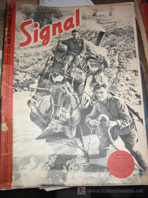 REVISTA SIGNAL Nº 18, SEGUNDO NÚMERO DE SEPTIEMBRE, 1941 (Militar - Revistas y Periódicos Militares)