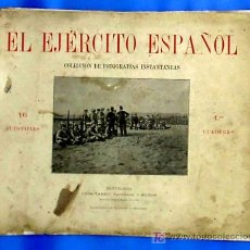 Militaria: EL EJERCITO ESPAÑOL. LUIS TASSO EDITOR. COLECCION. DE FOTOGRAFIAS INSTANTANEAS. BARCELONA, 1890.. Lote 18800945