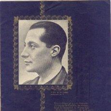 Militaria: FOLLETO FALANGE JOSÉ ANTONIO PRIMO DE RIVERA 1942 7 PÁGINAS TAMAÑO CUARTILLA. Lote 24649425
