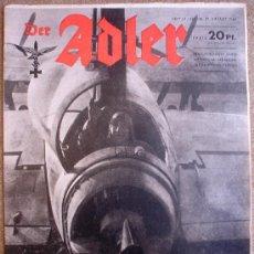 Militaria: REVISTA DER ADLER Nº 18 DE 1944 !! PENULTIMO NUMERO PUBLICADO!! MUY RARO MAGAZINE PROPAGANDA. Lote 27600716