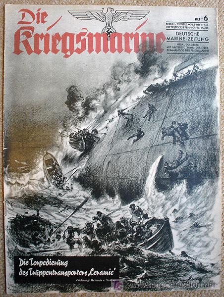 REVISTA DIE KRIEGSMARINE Nº 6 1943 GERMAN MAGAZINE WWII WW2 PROPAGANDA (Militar - Revistas y Periódicos Militares)