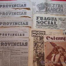 Militaria: LOTE DE 9 PERIODICOS Y REVISTAS DE 1931 A 1939. Lote 27342539