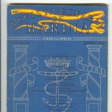 Militaria: REVISTA GENERAL DE MARINA ENERO 1946 PATRONATO DE LA ARMADA. Lote 25850134