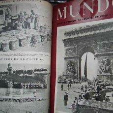 Militaria: REVISTA MUNDO II GUERRA MUNDIAL TOMOS 1942- 1944 FOTOS Y MAPAS 28 REVISTAS POR TOMO APROX. Lote 263183180