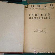 Militaria: TOMO REVISTA MUNDO, ENCUADERNADO, TOMO XII, ENERO A ABRIL DE 1944. Lote 9666004
