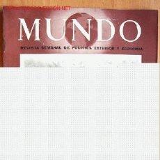 Militaria: MUNDO REVISTA SEMANAL DE POLÍTICA EXTERIOR Y ECONOMÍA Nº 160. 30 MAYO 1943. Lote 1926325