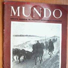 Militaria: MUNDO REVISTA SEMANAL DE POLÍTICA EXTERIOR Y ECONOMÍA Nº 95. 1 DE MARZO DE 1942. Lote 1912755