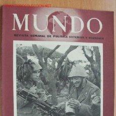 Militaria: MUNDO Nº 149 - 14 MARZO DE 1943 - REVISTA SEMANAL DE POLÍTICA EXTERIOR Y ECONOMÍA. Lote 25085840