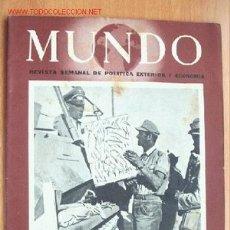 Militaria: MUNDO Nº 151 - 28 MARZO DE 1943 - REVISTA SEMANAL DE POLÍTICA EXTERIOR Y ECONOMÍA. Lote 24841643