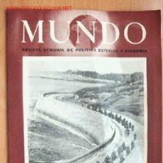 Militaria: MUNDO Nº 212 - 28 DE MAYO DE 1944 - REVISTA SEMANAL DE POLÍTICA EXTERIOR Y ECONOMÍA. Lote 1695880