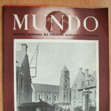 Militaria: MUNDO Nº 217 - 2 DE JULIO DE 1944 - REVISTA SEMANAL DE POLÍTICA EXTERIOR Y ECONOMÍA. Lote 1695904