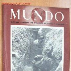 Militaria: MUNDO Nº 232 - 18 DE OCTUBRE DE 1944 - REVISTA SEMANAL DE POLÍTICA EXTERIOR Y ECONOMÍA. Lote 1980414