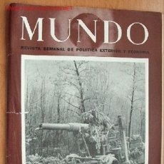 Militaria: MUNDO Nº 246- 21 DE ENERO DE 1945 - REVISTA SEMANAL DE POLÍTICA EXTERIOR Y ECONOMÍA. Lote 25537696