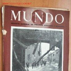 Militaria: MUNDO Nº 248- 4 FEBRERO DE 1945 - REVISTA SEMANAL DE POLÍTICA EXTERIOR Y ECONOMÍA. Lote 1704941
