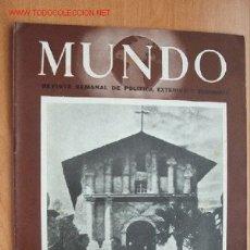 Militaria: MUNDO Nº 260 - 29 DE ABRIL DE 1945 - REVISTA SEMANAL DE POLÍTICA EXTERIOR Y ECONOMÍA. Lote 1704994