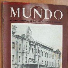 Militaria: MUNDO Nº 264 - 27 DE MAYO DE 1945 - REVISTA SEMANAL DE POLÍTICA EXTERIOR Y ECONOMÍA. Lote 25043168