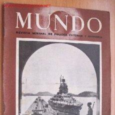Militaria: MUNDO Nº 286 - 28 DE OCTUBRE DE 1945 - REVISTA SEMANAL DE POLÍTICA EXTERIOR Y ECONOMÍA. Lote 1705004