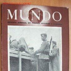 Militaria: MUNDO Nº 291 - 2 DE DICIEMBRE DE 1945 - REVISTA SEMANAL DE POLÍTICA EXTERIOR Y ECONOMÍA. Lote 1705011