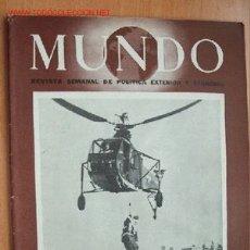 Militaria: MUNDO Nº 293 - 16 DE DICIEMBRE DE 1945 - REVISTA SEMANAL DE POLÍTICA EXTERIOR Y ECONOMÍA. Lote 25043169