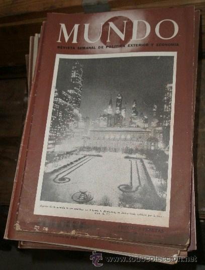 LOTE DE 100 REVISTAS MUNDO, AÑOS 46,47, 48, 49. (Militar - Revistas y Periódicos Militares)