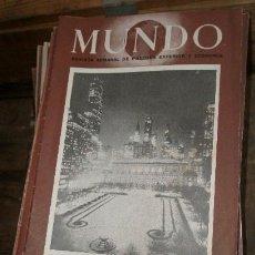 Militaria: LOTE DE 100 REVISTAS MUNDO, AÑOS 46,47, 48, 49.. Lote 10539452