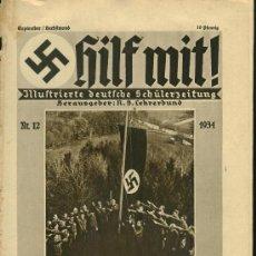 Militaria: REVISTA ALEMANA - HILF MIT! - Nº12 - 1934. Lote 24643142