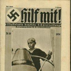 Militaria: REVISTA ALEMANA - HILF MIT! - Nº10 - 1934. Lote 21462013