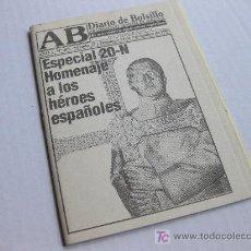 Militaria: DIARIO DE BOLSILLO AB - ESPECIAL 20-N ALBACETE 1996. Lote 21537777