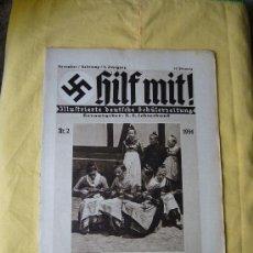 Militaria: REVISTA ALEMANA - HILF MIT! - Nº 2 - 1934. Lote 22328188