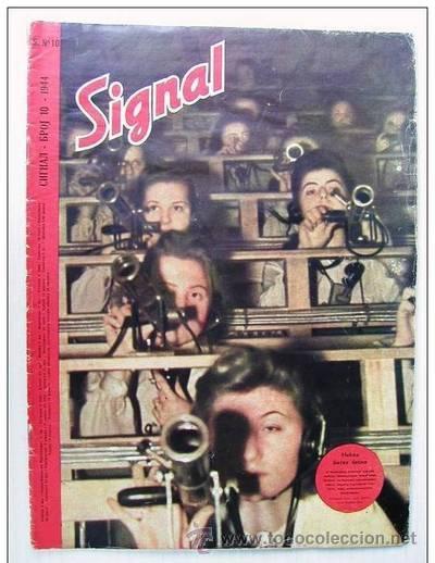 SIGNAL Nº 10 1944 ED. S GERMAN MAGAZINE - REVISTA ALEMANA, SERBIA / SERBIAN - SUPER RARO / SUPER RAR (Militar - Revistas y Periódicos Militares)