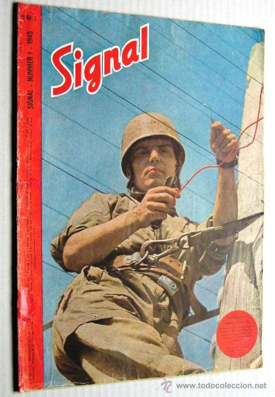 SIGNAL Nº 1 1945 ED. N NORUEGA REVISTA ALEMANA MUY RARA ¡¡¡ OCASION !!! (Militar - Revistas y Periódicos Militares)