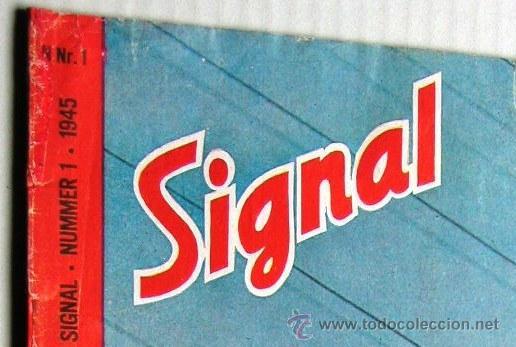 Militaria: Signal nº 1 1945 Ed. N Noruega revista alemana MUY RARA ¡¡¡ OCASION !!! - Foto 8 - 26895833