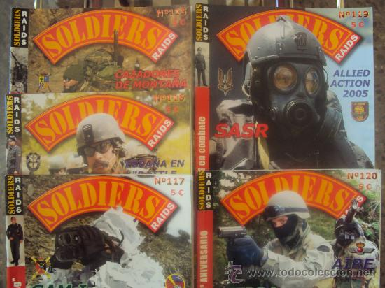 SOLDIERS-RAIDS-LOTE 5 REVISTAS-TOMO20 (Militar - Revistas y Periódicos Militares)